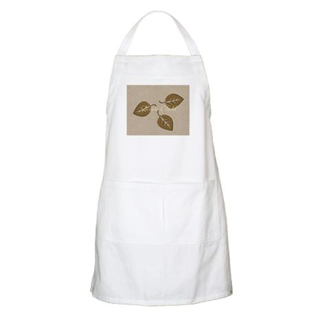 Personalised Golden Leaf Event Linen Textured Apron on http://www.cafepress.com/+personalised_golden_leaf_event_linen_textured_apro,1658531834