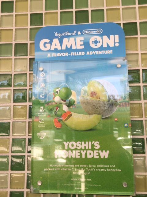 Fro-Yo Girl Speaks: Yogurtland & Nintendo Game On New Spoon & New Flavor: Yoshi's Honeydew & Yoshi Spoon