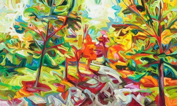Julia Veenstra, Niagara Winery, 36x60, acrylic on canvas