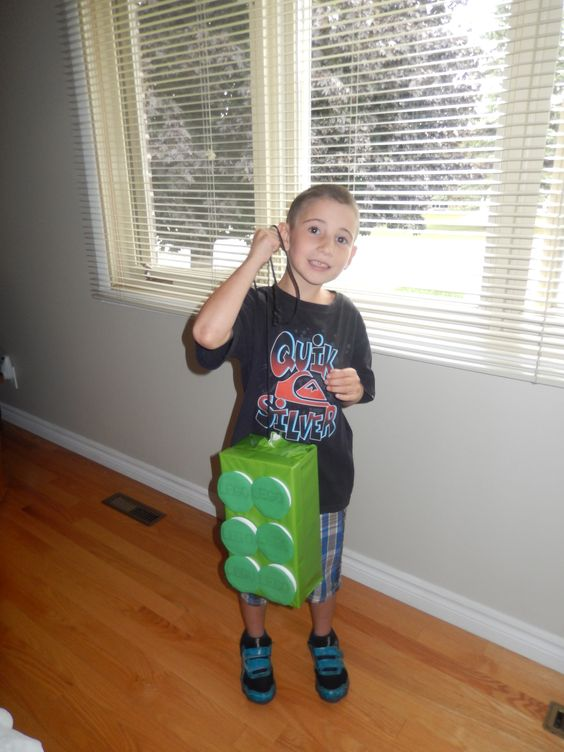 Crafting with grandson his Lego Pinata for his B'Day