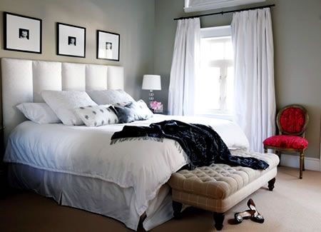 Master Bedroom Remodel- love the neutral with the pop of color.