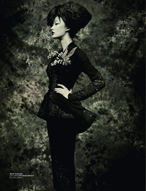 John Galliano for Dior, L'Officiel China, 2010
