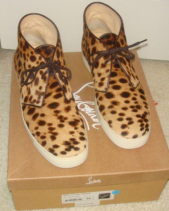 christian louboutin leopard mens shoes