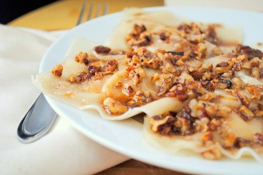 Butternut Squash Ravioli with Browned Butter and Pecans