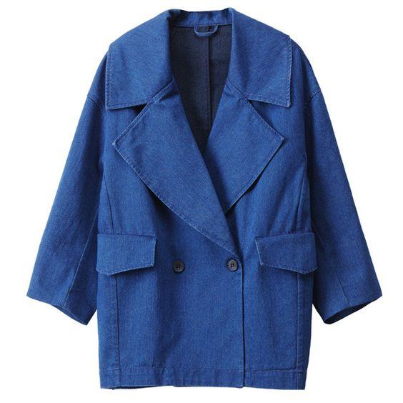 Une veste mi-saison façon bleu de travail