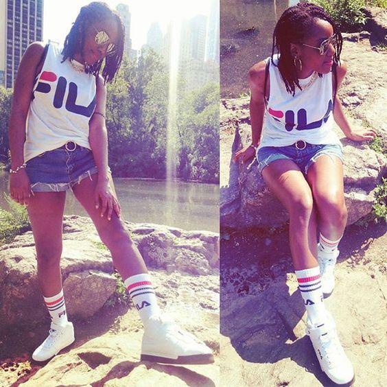 今日は暑すぎだったIt was sooo hot today Omg  #ootd #style #fashion #fashionblogger #nyc #centralpark #fila #levis #vintage #braids #summer #hot #sunglasses #girl #outfit #instalike #photooftheday #like4like #スタイル #ファッション #コーディネート #コーデ #asos #asseenonme #instadaily