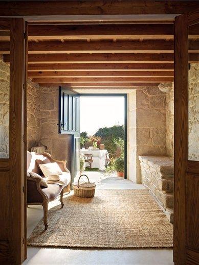 heirloom philosophy: Rustic Getaway - old beams + dutch door