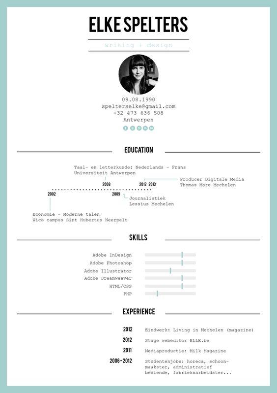 Resume, Resume design and Design layouts on Pinterest