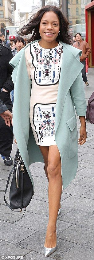 Winning look: Naomie Harris
