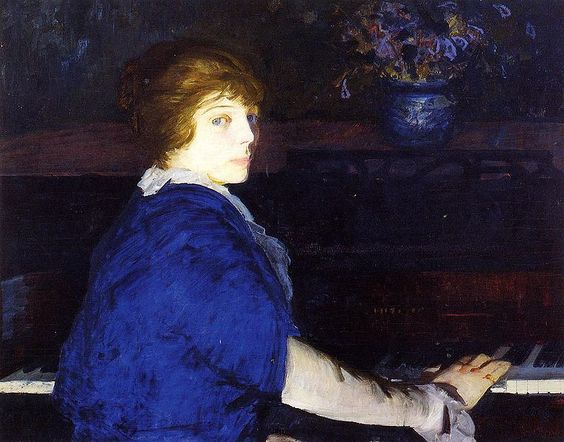 George Bellows - Emma at the Piano (1914)