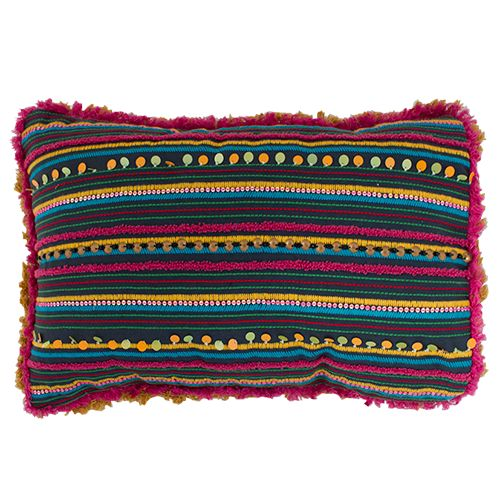 Hetty Embroidered Cushion – Jumbled
