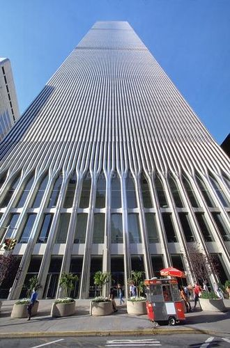 Looking up at the World Trade Centre. Such a majestic building yet haunting at the same time.: