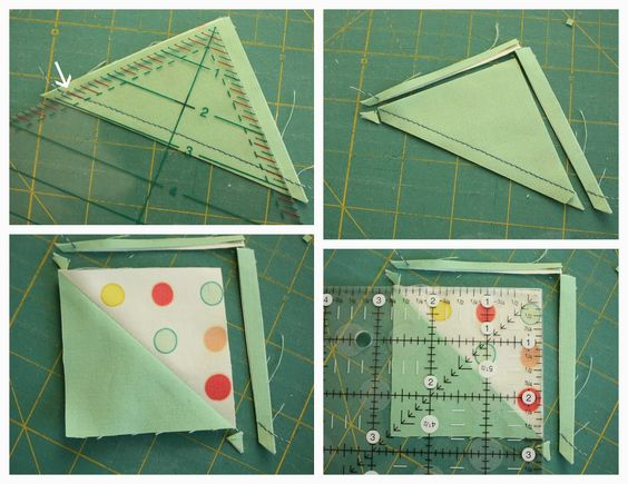 Diary of a Quilter - a quilt blog: Half-square-triangle short-cuts and easy square-up: