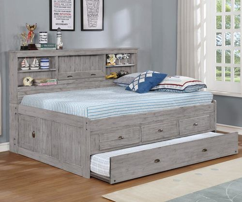 Northview Full Size Bookcase Captain S Daybed Headboard Storage