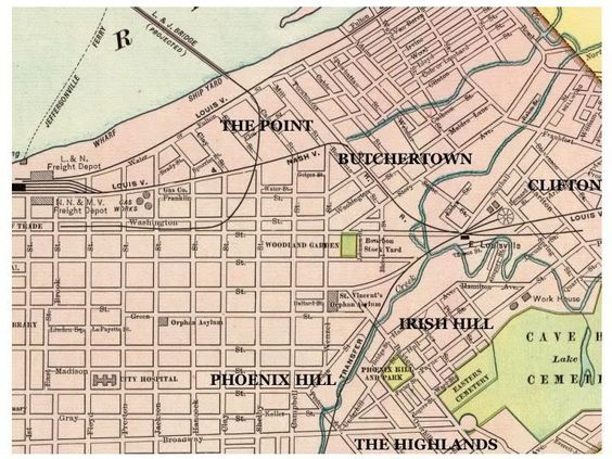 Late 1800s map of Louisville Ky – Louisville Tourist Attractions Map