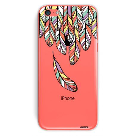 Coque Crystal Plumes pastel pour Apple iPhone 5C