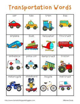 Vocabulario. Medios de transporte
