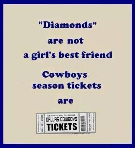 #Dallas #Cowboys #fan.....Hell yes! Diamonds are overrated!