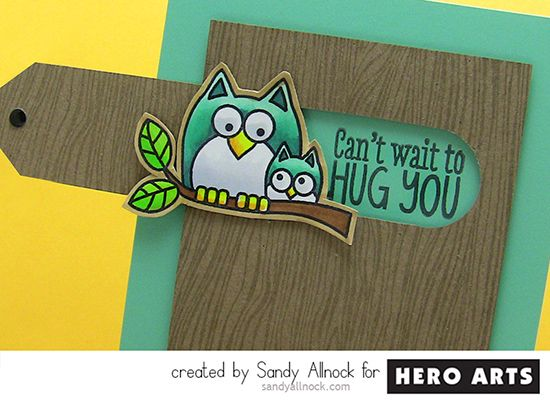 So cute - closes up to just look like a tree and then pull the tab to see the greeting Sandy Allnock LilHoot 2