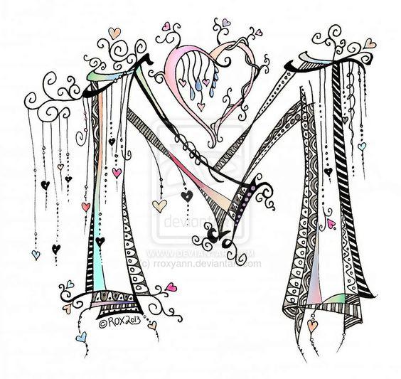Zentangle Lettering And Deviantart On Pinterest