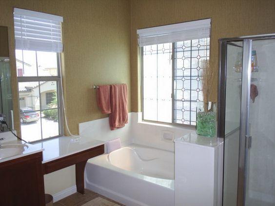 Grasscloth Wallpaper In Bathroom Master Bath W