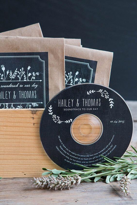 Regalos para invitados de bodas - la música de la boda - el taller de nice day