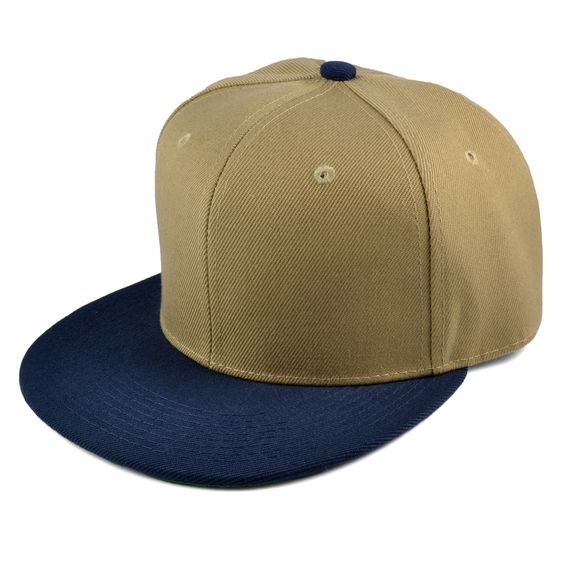 Khaki/Navy Snapback Cap - 199,00kr