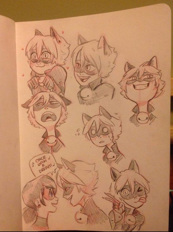 Chat Noir doodles by Toritori