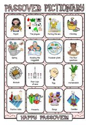 English worksheet: Passover Pictionary | Everything Passover ...