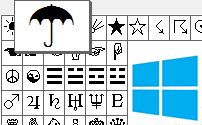 MS Windows Character map
