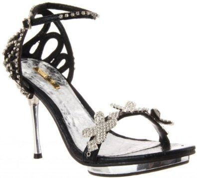 £37.99  Shoehorne Joyce-07 - Womens Black Rhinestone X Encrusted front Diamante Covered Ankle Strap Stiletto High Heels Evening Sandals - Avail in Ladies Shoe Size 3-8 UK: Amazon.co.uk: Shoes & Accessories