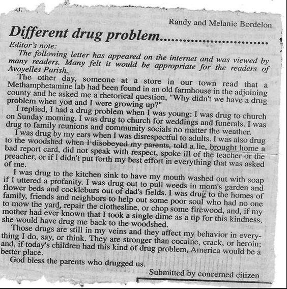 I had a drug problem too.  :)