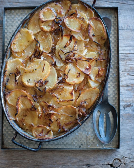 Hearty, Comforting Potato and Onion Gratin with Thyme (Or Rosemary ...