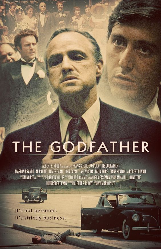 Alternative movie posters, Al pacino and The godfather on
