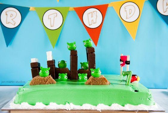 angry bird party party-ideas: Bird Cakes, Bird Party, Angry Birds Cake, Cake Ideas, Cake Angrybirds, Party Ideas, Angrybirds Party, Birthday Cakes, Birthday Ideas