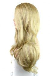 Europe Style Side Bang Fluffy Long Loose Wavy Kanekalon Synthetic Blonde Wig For Women (GOLDEN) | Sammydress.com Mobile