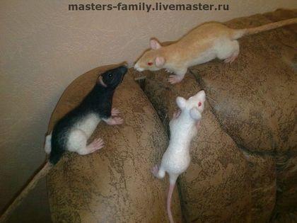 Игрушки животные, ручной работы. Ярмарка Мастеров - ручная работа Валяные мыши. Handmade.