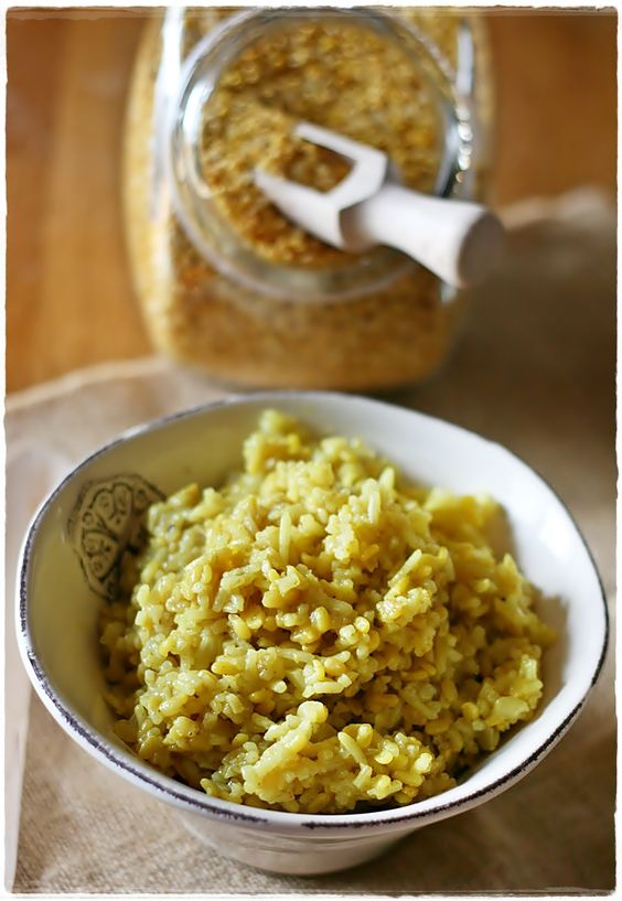 Khicheri – Riso indiano con fagioli mung e spezie – Indian spiced rice with moong dal