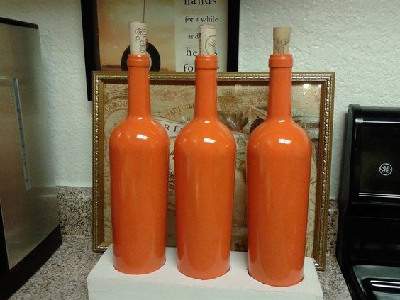 Orange Wine Bottles