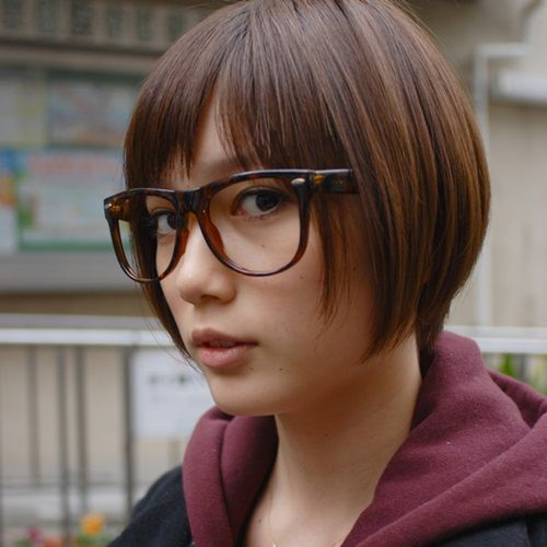 メガネをかけた本田翼