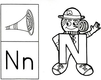 Original Letter People Printables | Letter Person N Coloring Page