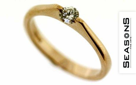 Delicate gold ring 750/ Rg with diamond