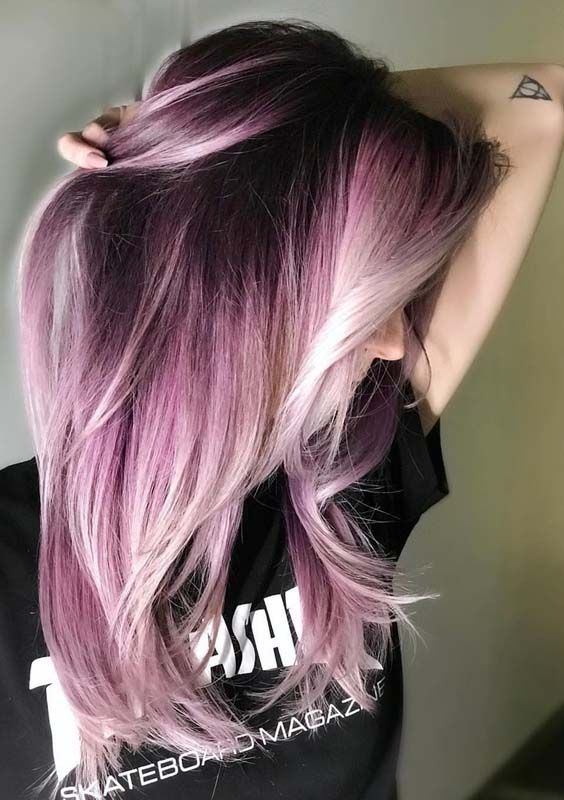 42 Amazing Shadow Root Pastel Pink Hair Color Ideas For