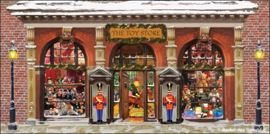 Stage Backdrops Toy Store Christmas