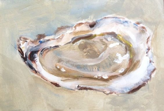 """KRISTINE KAINER: """"Oyster""""  ACEO Art Card Limited Edition Print"""