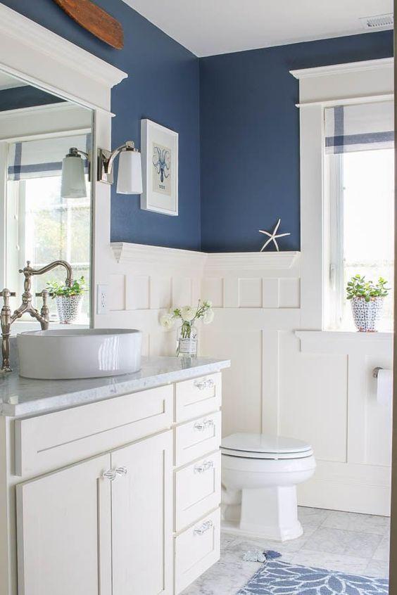 78 Light Blue Bathroom Color Decorating Ideas Beach House Bathroom House Bathroom Blue White Bathrooms