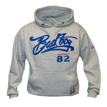 Bad Boy Vintage Hoodie in light Gray £9.99