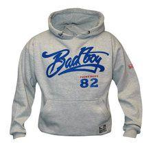 Bad Boy Vintage Hoodie in light Gray £9.99