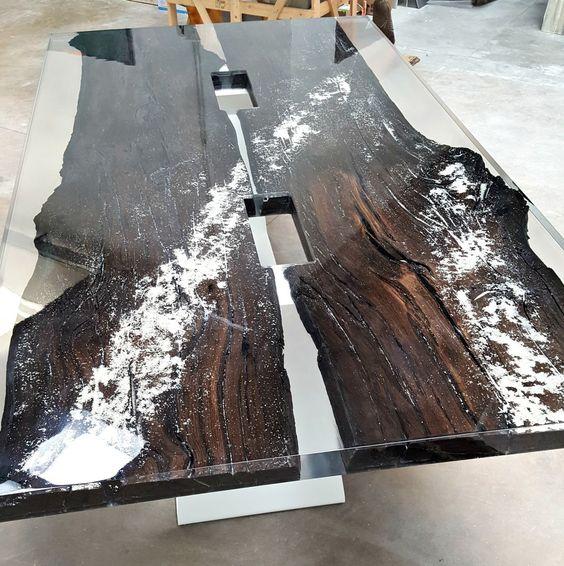 Konsolentisch / Modern / Holz / Aus Gießharz ANTICO TRENTINO DI LUCIO SRL |  Möbel | Pinterest | Tisch, Kunstharz Und Holzideen