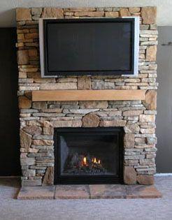 gas fireplace stone surround | Portfolio | Fenner Builders ...